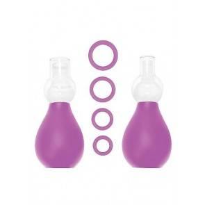 Набор для стимуляции груди фиолетовый SH-OU056PUR