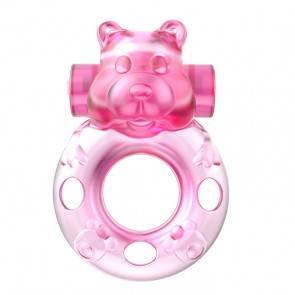 Эрекционное виброкольцо Baile Pink bear BI-010083A Розовый Baile