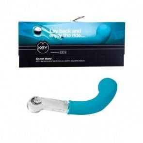 Фаллоимитатор для точки G Key by Jopen - Comet Pearl - Robin Egg Blue голубой Key