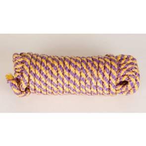Веревка шелк для бандажа жел-лилов 5 метров