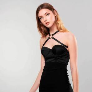 Bijoux Indiscrets Упряжь MAZE - Cross Chest Harness черная