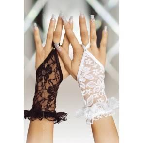 Перчатки кружевные короткие SoftLine Collection, черный, S/L