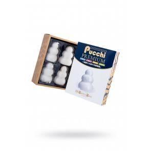Набор нереалистичных мастурбаторов MensMax Pucchi Premium, TPE, белый, 6,5 см MensMax