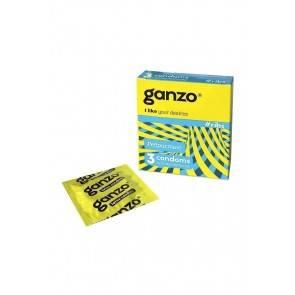 Презервативы Ganzo Ribs, с ребристой поверхностью, латекс, 18 см, 3 шт