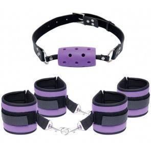 Кляп+наручники+оковы+маска