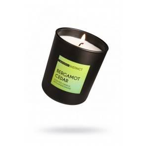 Свеча аромотическая с феромонами Natural Instinct , Кедр и Бергамот 180 гр