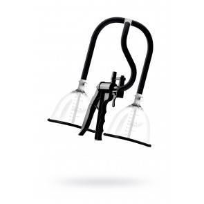 Помпа для груди SAIZ Premium - Large, силикон+ABS пластик, чёрный, 44,5 см